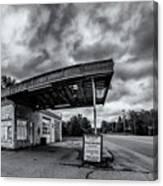 Old Auto Garage In Ellershouse Canvas Print