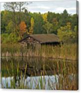 Old Bait Shop On Twin Lake_9626 Canvas Print
