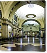 Old Barcelona Train Station Canvas Print
