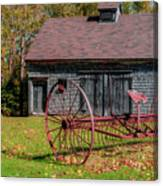Old Barn And Rusty Farm Implement 02 Canvas Print