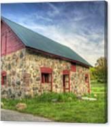 Old Barn At Dusk Canvas Print