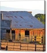 Old Barn At Sunset Canvas Print