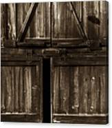 Old Barn Door - Toned Canvas Print