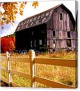 Old Barn In Autumn Canvas Print