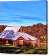 Old Barn In California Canvas Print