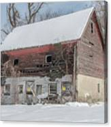 Old Barn In Upper Roxborough In The Snow Canvas Print