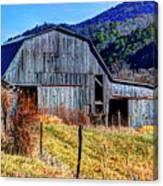 Old Barn In West Virginia Mountains 4836 Fusedt Canvas Print