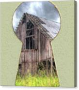 Old Barn Keyhole Canvas Print