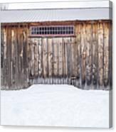 Old Barn Musterfield Farm Canvas Print
