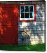 Old Barn New Paint Canvas Print