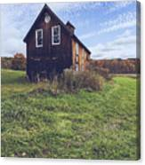 Old Barn Out In A Field Canvas Print