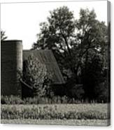 Old Barn Outbuildings And Silo  Canvas Print