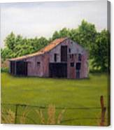 Old Barn  Poetry Tx Canvas Print