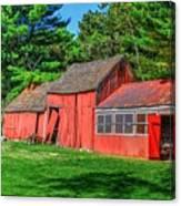 Old Barn Ridge Li.ny Canvas Print