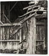 Old Barn Ruin 3 Canvas Print