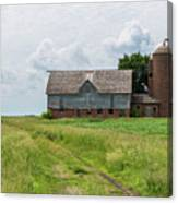 Old Barn Country Scene 4 A Canvas Print