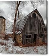 Old Barn Winter Canvas Print