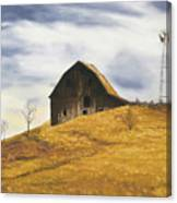 Old Barn With Windmill Canvas Print
