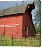 Old Barn Zionsville Indiana Side Two Canvas Print