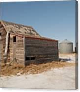 Old Barns And A Grain Bin Canvas Print