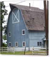 Old Blue Barn Littlerock Washington Canvas Print