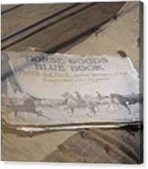 Old Blue Book Canvas Print