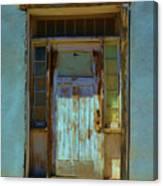 Old Blue Door  Canvas Print