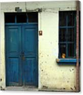 Old Blue Door Canvas Print