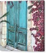 Old Blue Doors Canvas Print