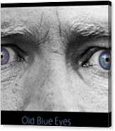 Old Blue Eyes Poster Print Canvas Print