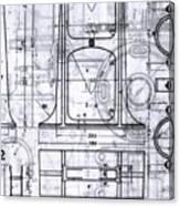Old Blueprints Canvas Print