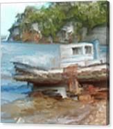 Old Boat At China Camp Canvas Print