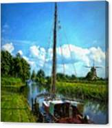 Old Boat In Holland Canvas Print