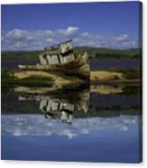 Old Boat Reflection Canvas Print