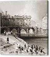 Old Boats Bridge, Limerick, Ireland Canvas Print