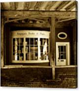 Old Book Shop Canvas Print