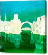 Old Bridge In Mostar Canvas Print