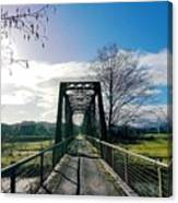 An Old Railroad Bridge  Canvas Print