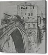 Old Bridge -mostar Canvas Print