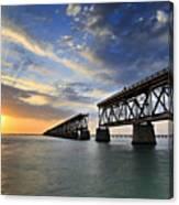 Old Bridge Sunset Canvas Print