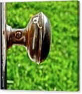 Old Brown Doorknob Canvas Print