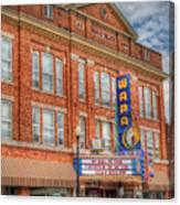 Old Brown Theater - Wapak Theater Canvas Print
