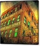 Old Empty Building In Retro Colors Canvas Print