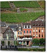 Old Buildings And Vineyards Canvas Print