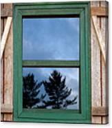 Old Cabin Window Canvas Print