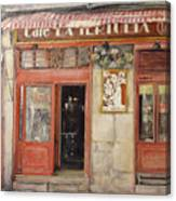 Old Cafe- Santander Spain Canvas Print
