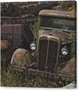 Old Car And Truck Canvas Print