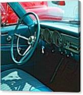 Old Car Interior Canvas Print