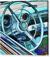 Old Car Wheel Canvas Print