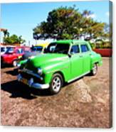 Old Cars Cuba Canvas Print